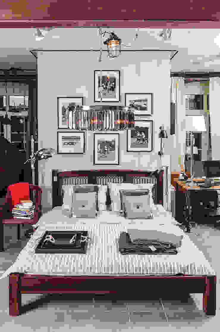 Sypialnie Eklektyczna sypialnia od House&more Eklektyczny
