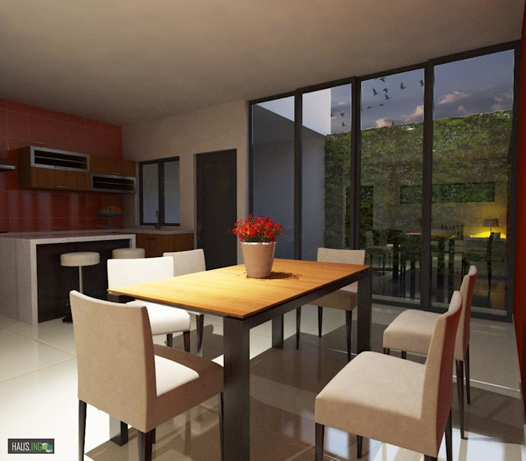 Modern dining room by hausing arquitectura Modern