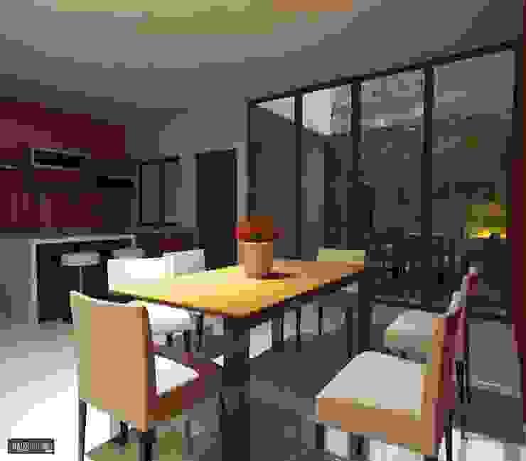 CASA RB: Comedores de estilo  por hausing arquitectura, Moderno