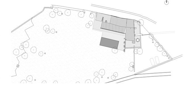 Roof plan by FG ARQUITECTES