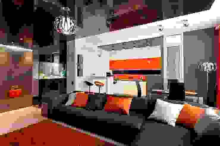 Гостиная - кухня Гостиная в стиле минимализм от Gorshkov design Минимализм