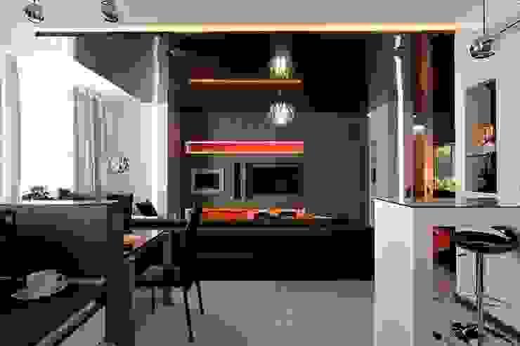 Гостиная - зона столовой Гостиная в стиле минимализм от Gorshkov design Минимализм
