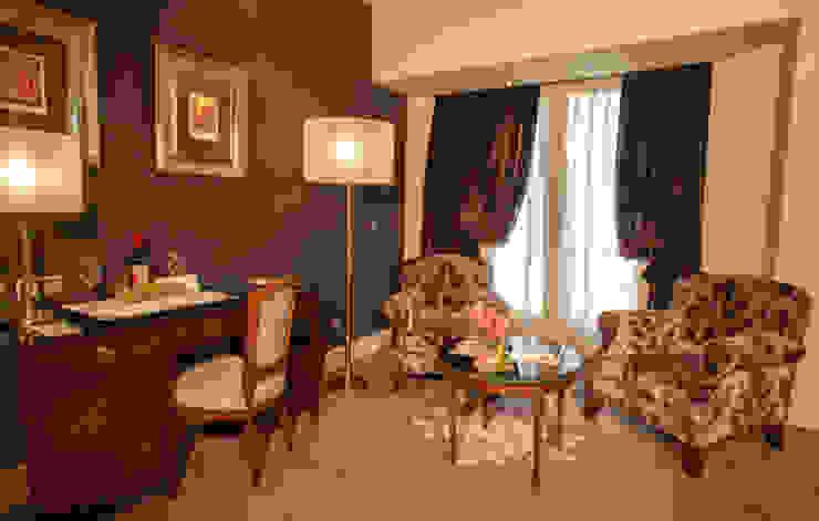 Zona de estar suite Hoteles de estilo clásico de DyD Interiorismo - Chelo Alcañíz Clásico