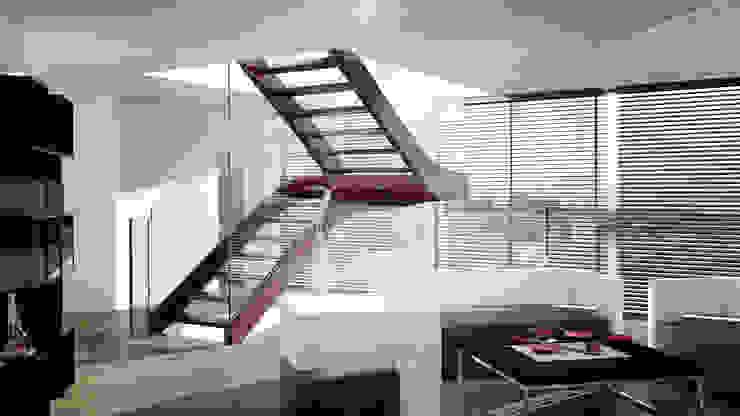 โดย Siller Treppen/Stairs/Scale โมเดิร์น ไม้ Wood effect
