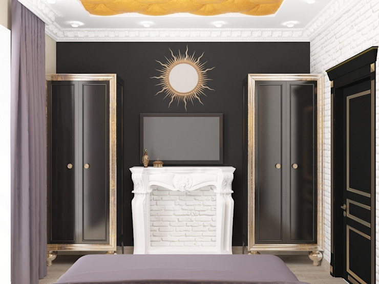 Спальня ар-деко Спальня в эклектичном стиле от Kalista Эклектичный