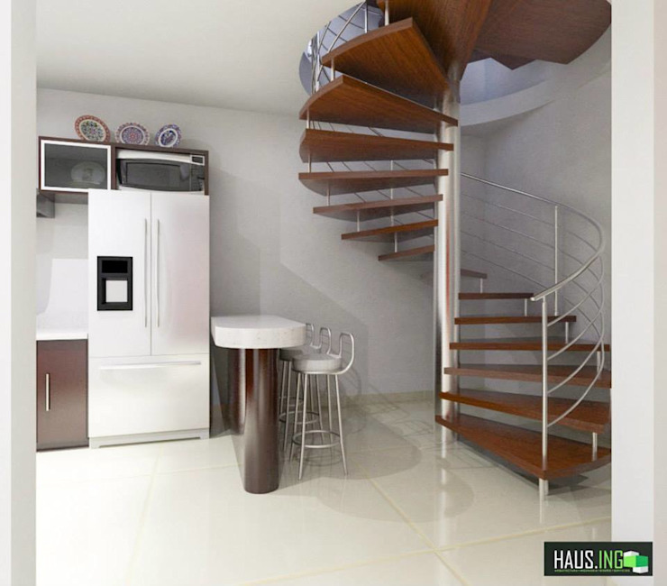 Modern Corridor, Hallway and Staircase by hausing arquitectura Modern