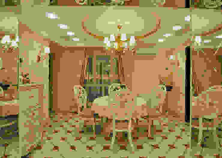 Реализация интерьера коттеджа 250м2 в Тюменской обл., город Тобольск. Столовая комната в классическом стиле от Tutto design Классический
