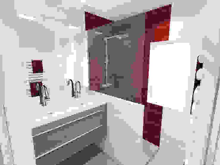 Vue 3D projet de salle de bains par Pauline VIDAL - Architecte d'Intérieur CFAI