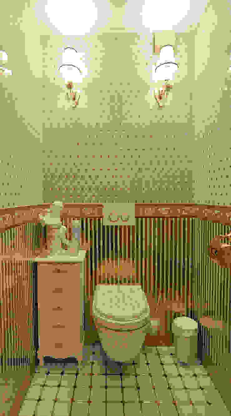 Реализация интерьера коттеджа 250м2 в Тюменской обл., город Тобольск. Ванная в классическом стиле от Tutto design Классический