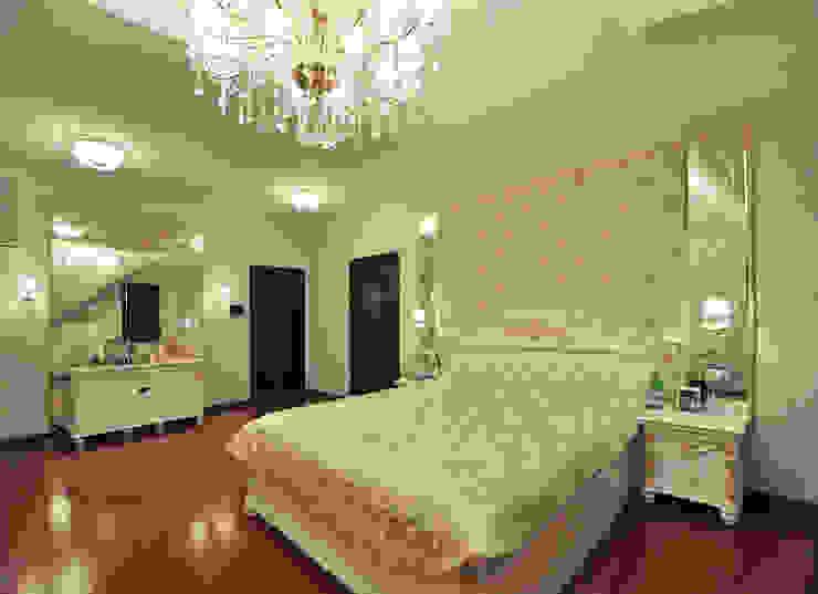 Реализация интерьера коттеджа 250м2 в Тюменской обл., город Тобольск. Спальня в классическом стиле от Tutto design Классический