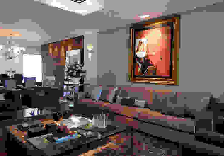 apartamento em Caxias do Sul   RS   Brasil Salas de estar ecléticas por C2 Arquitetos Eclético