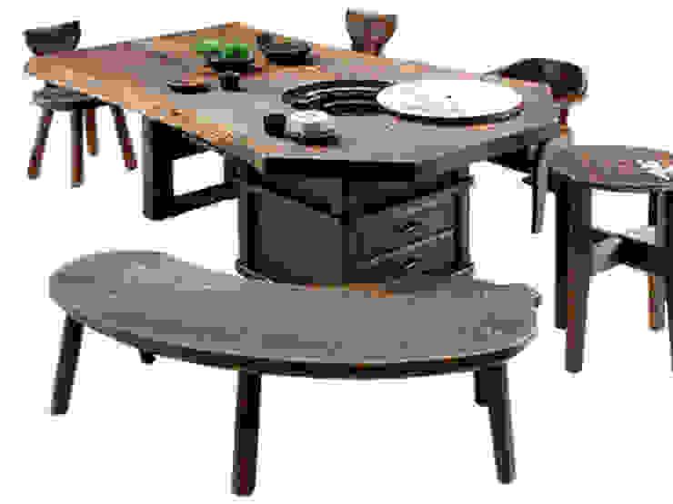 焼桐天然無垢囲炉裏テーブル: 桐里工房が手掛けたアジア人です。,和風