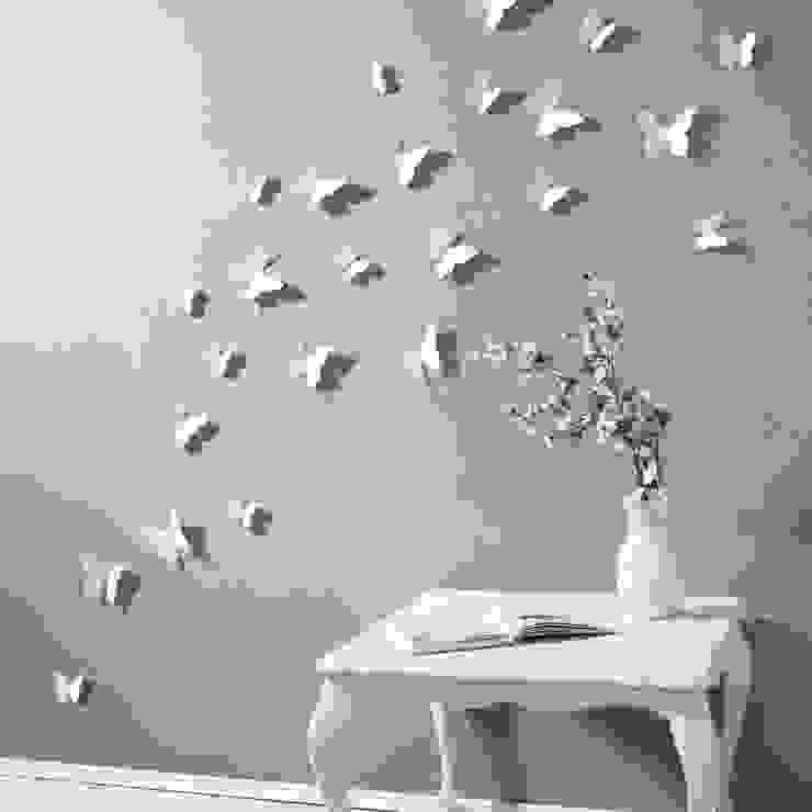 3D Schmetterling in Weiß von your-design.de: modern  von your-design,Modern