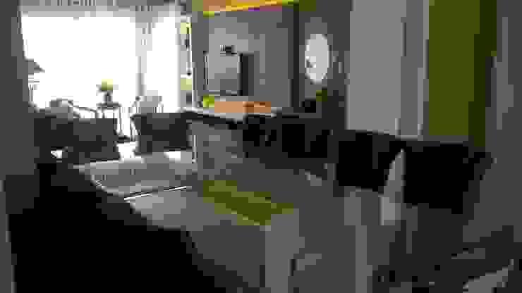 Jantar estar Salas de estar modernas por casulo arquitetura design Moderno