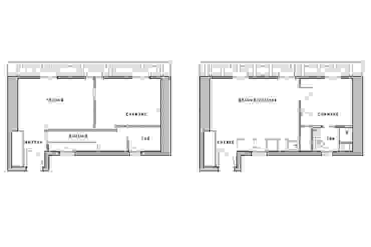 Transformation de chambres de bonne à Paris 11ème par GALI Sulukjian Architecte