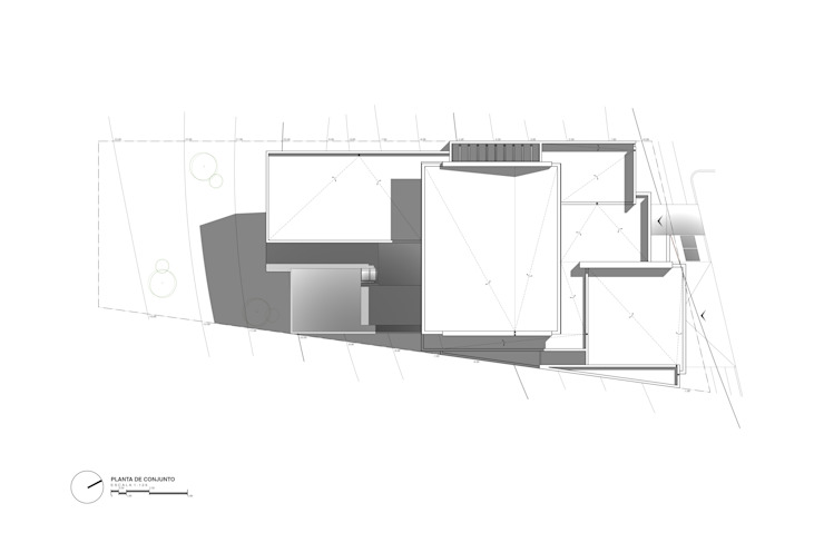 Planta de Conjunto de Diez y Nueve Grados Arquitectos Moderno