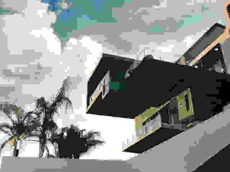 Vista desde Jardín Casas modernas: Ideas, imágenes y decoración de Diez y Nueve Grados Arquitectos Moderno