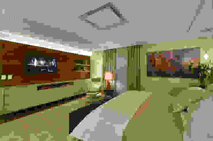 Suite Casal em Tons Neutros Quartos modernos por Carolina Burin & Arquitetos Associados Moderno