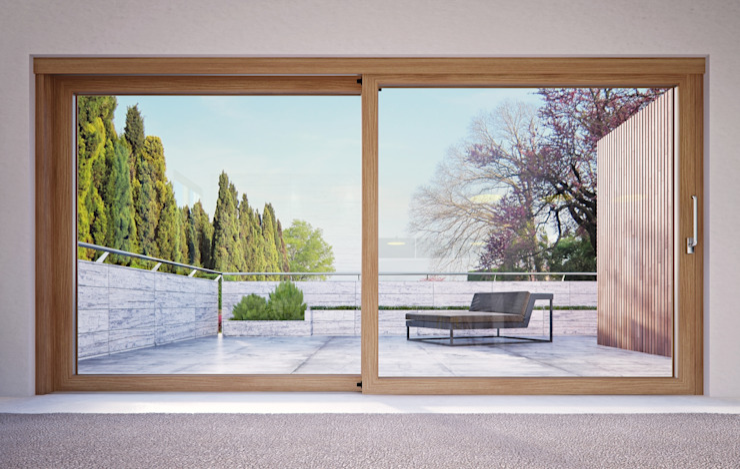 Finestre Optima Finestre & Porte in stile minimalista di Qr legno srl Minimalista
