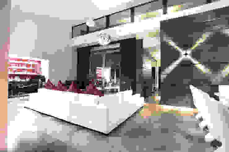 Vista de espacio interior Salas de estilo moderno de Diez y Nueve Grados Arquitectos Moderno