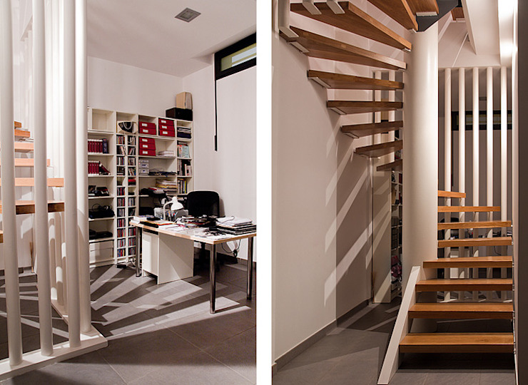 Modern Corridor, Hallway and Staircase by Dogares Modern