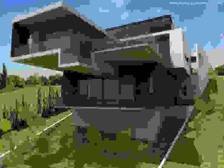 Perspectiva exterior de Diez y Nueve Grados Arquitectos Moderno