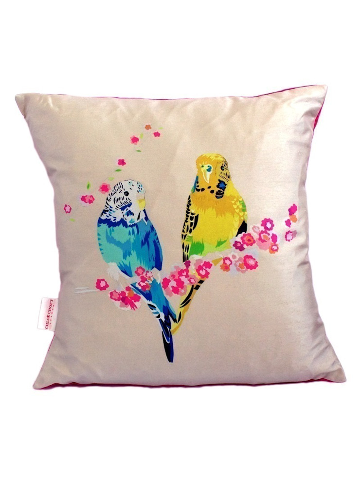 Loving Budgies Cushion Luku Home Tropikal