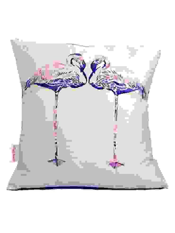 Lilac Flamingos Cushion Luku Home Tropikal