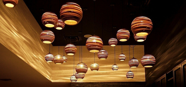 Moon Pendants - Luku Home: rustic  by Luku Home, Rustic