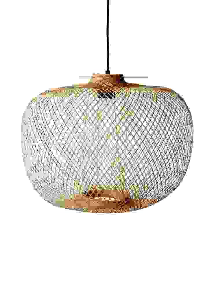 Fish Trap Pendant: rustic  by Luku Home, Rustic