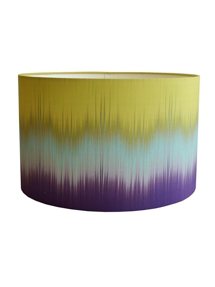 Ikat Lampshade - Aubergine/Lime: eclectic  by Luku Home, Eclectic