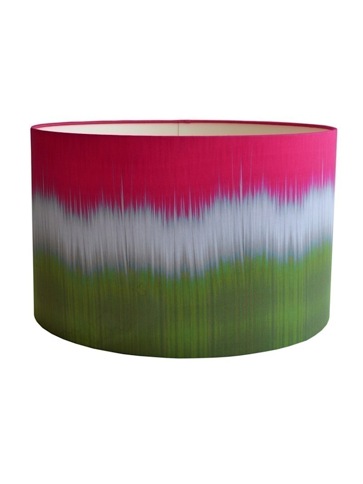 Ikat Lampshade - Green/Pink: eclectic  by Luku Home, Eclectic