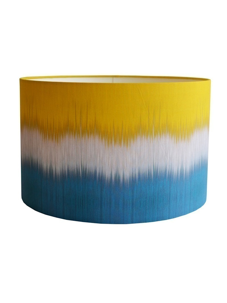 Ikat Lampshade - Teal/Yellow: eclectic  by Luku Home, Eclectic