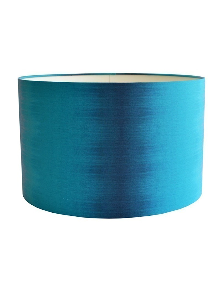 Ikat Lampshade - Teal: eclectic  by Luku Home, Eclectic