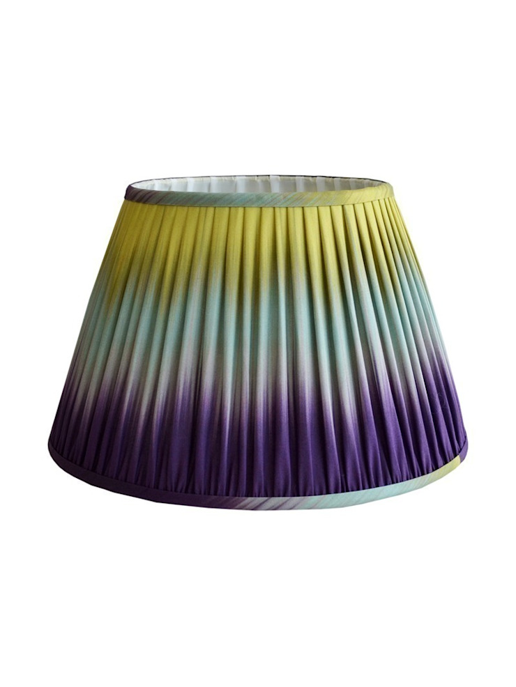Wave Ikat Lampshade - Aubergine/Lime: eclectic  by Luku Home, Eclectic