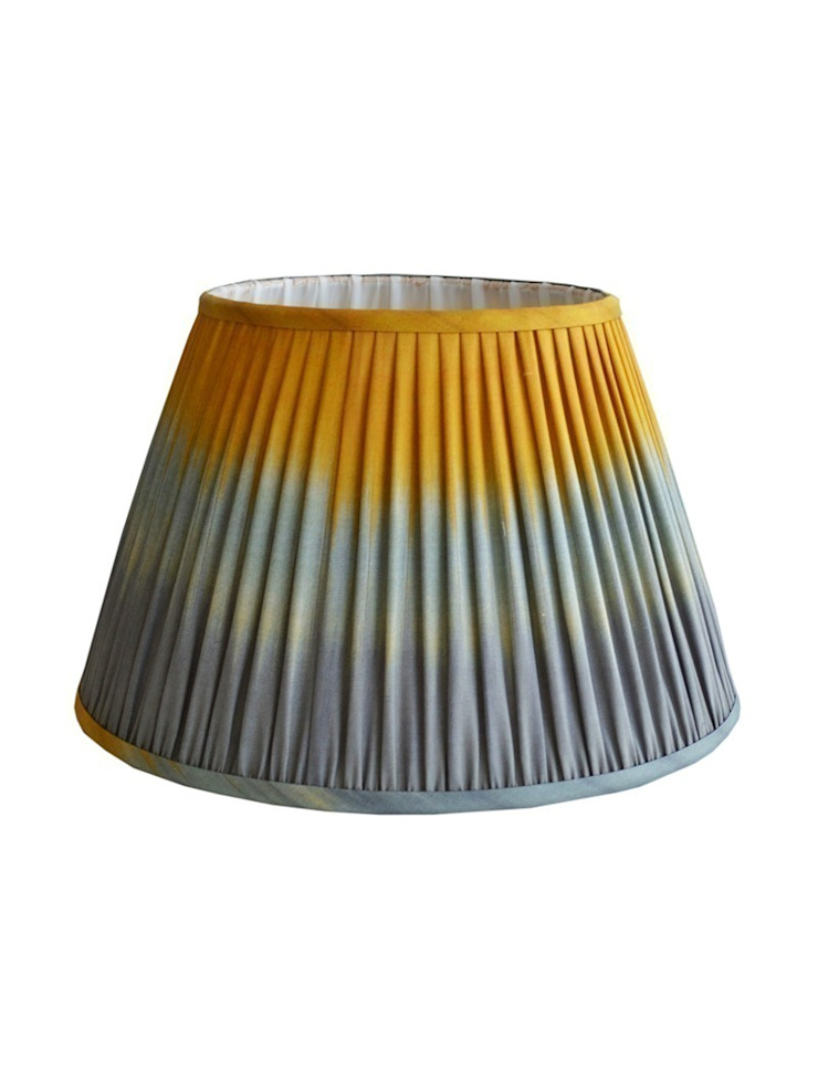 Wave Ikat Lampshade - Grey/Ochre: eclectic  by Luku Home, Eclectic