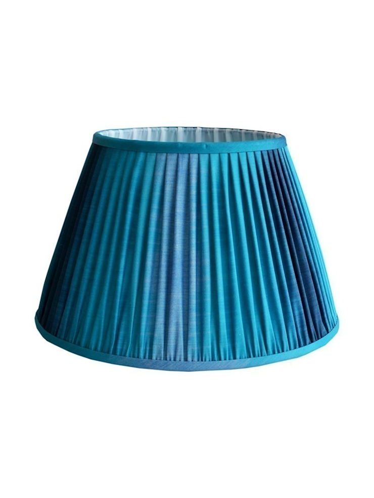 Wave Ikat Lampshade - Teal: eclectic  by Luku Home, Eclectic