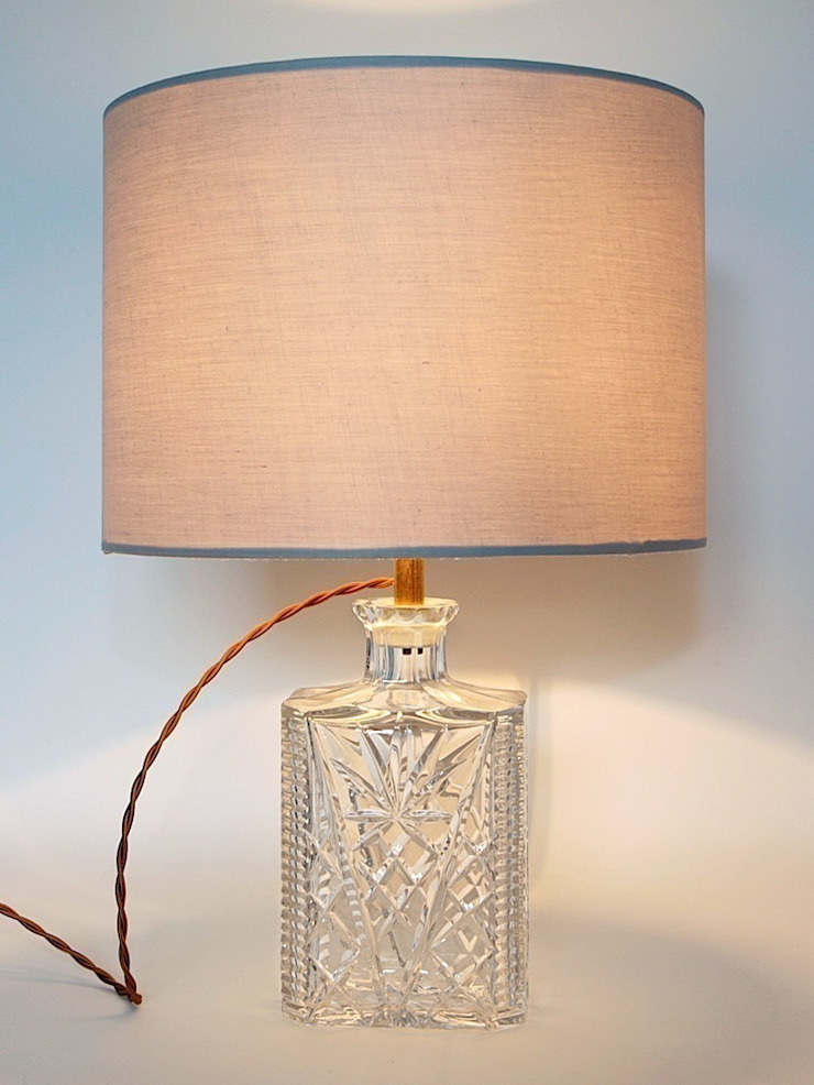 Art Deco Cut Crystal Decanter Lamp: eclectic  by Luku Home, Eclectic