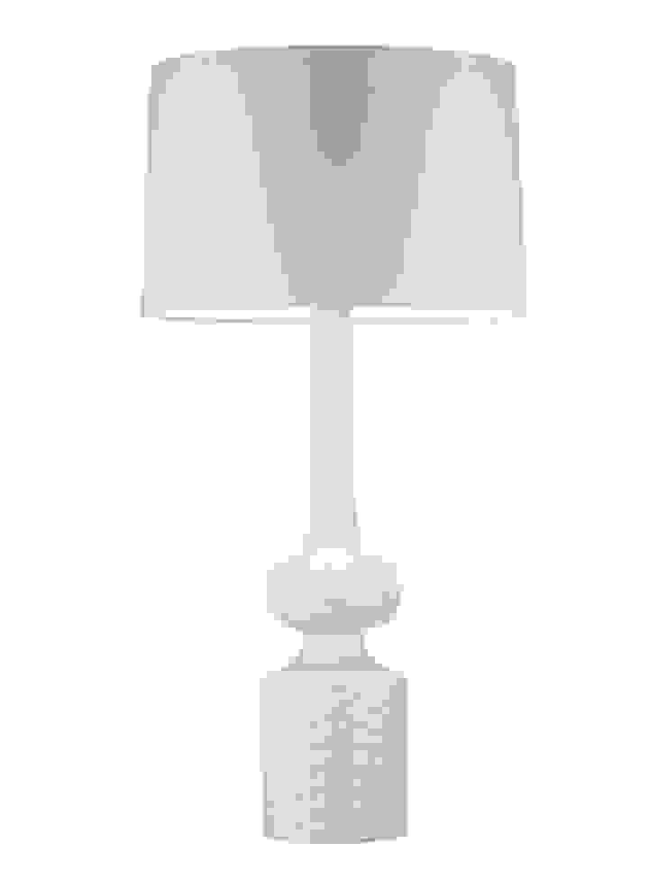 Babylon Table Lamp - Ivory Crackle: modern  by Luku Home, Modern