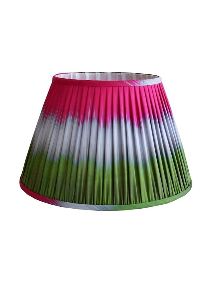 Wave Ikat Lampshade - Green/Pink: eclectic  by Luku Home, Eclectic