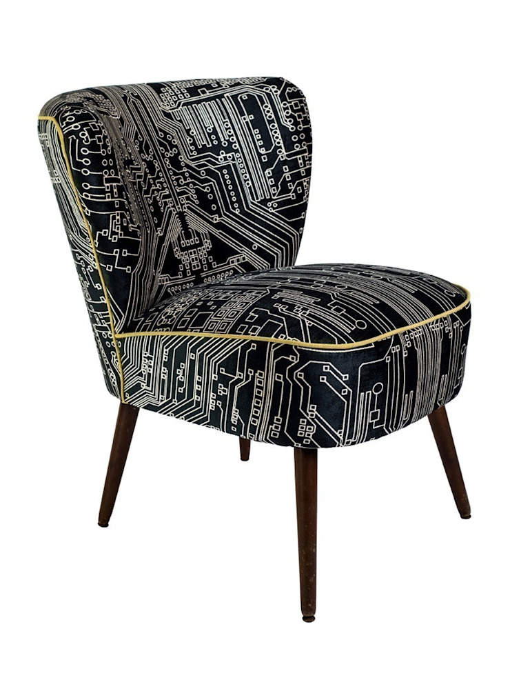 Flocktail Chair - Circuit Slate: eclectic  by Luku Home, Eclectic