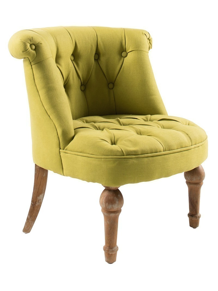 Tufted Tub Chair - Green de Luku Home Ecléctico