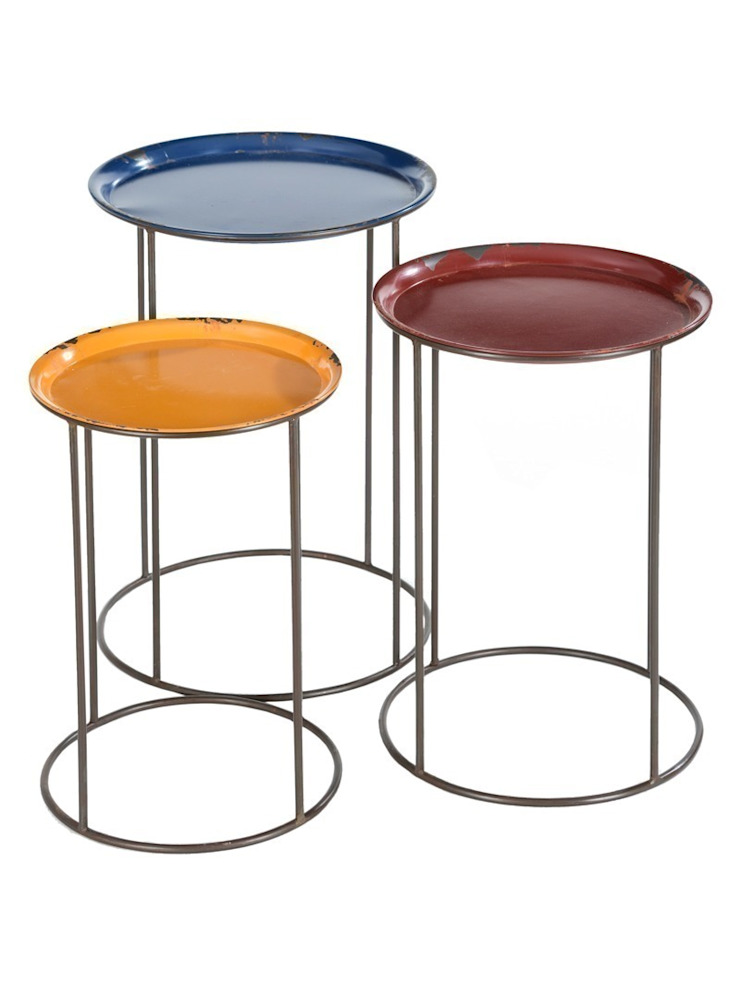 Colour Pop Nesting Tables: industrial  by Luku Home, Industrial