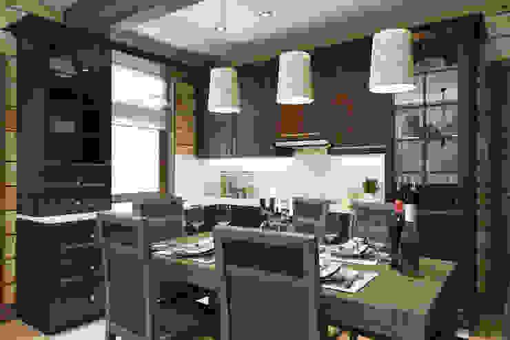 кухня в стиле шале 1 этаж Кухня в стиле кантри от Универсальная история Кантри
