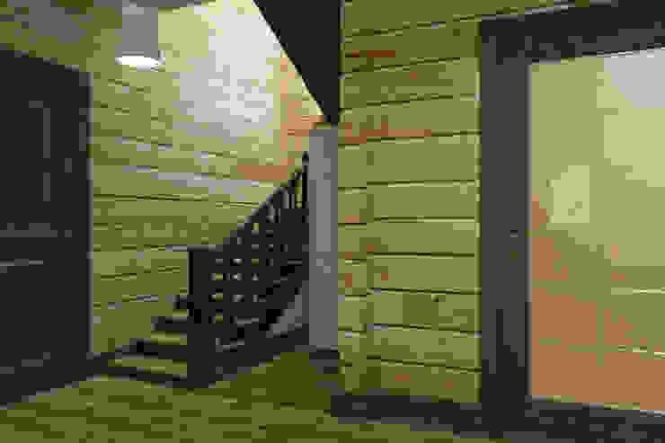 Холл лестницы 1 этаж Коридор, прихожая и лестница в стиле кантри от Универсальная история Кантри