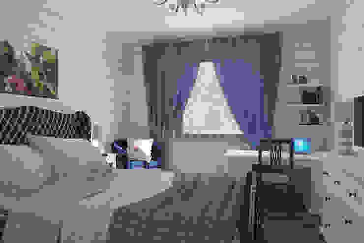 Спальня мамы 1 этаж стиль кантри с намеком на французский прованс Спальня в стиле кантри от Универсальная история Кантри