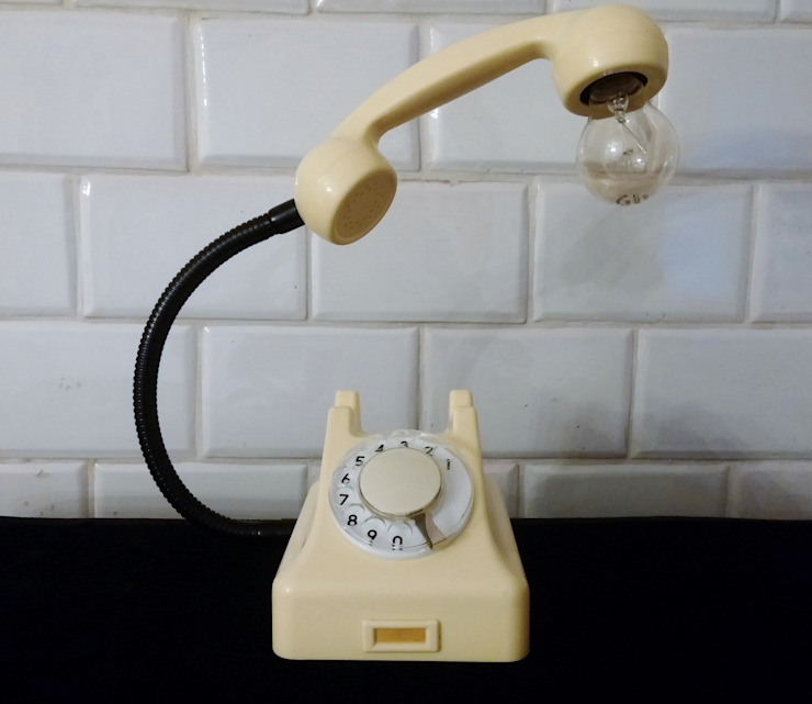 teleLAMPAfon - iVory 61' od RefreszDizajn Minimalistyczny