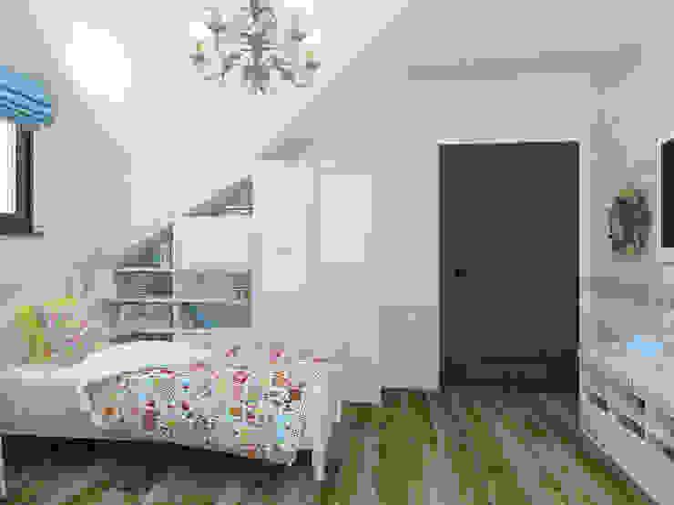 Детская для девочки 2 этаж, намек на французский прованс Детская комнатa в стиле кантри от Универсальная история Кантри