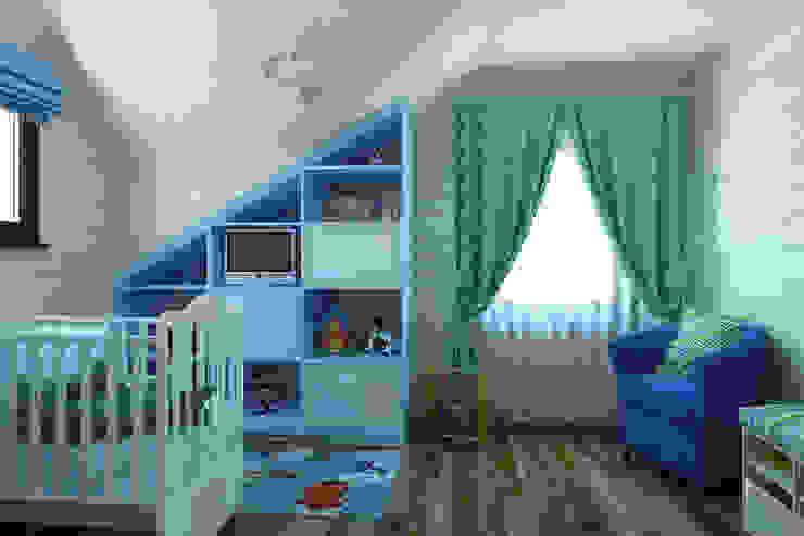 Детская для мальчика 2 этаж, намек на французский прованс Детская комнатa в стиле кантри от Универсальная история Кантри