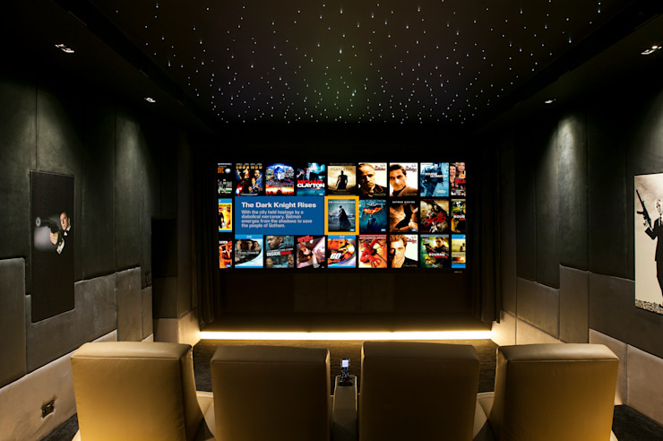 Media room by Finite Solutions, Modern